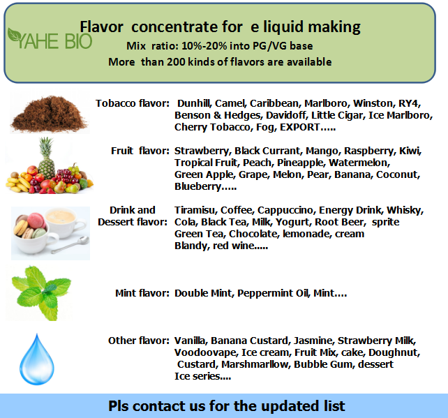 e liquid flavoring concentrate China flavour manufacturer